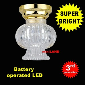 Brass Fancy Clear Shade Ceiling Lamp LED Super bright with On/off switch