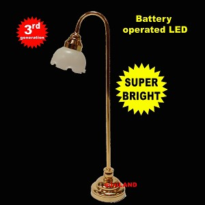 Fluted shade floor lamp LED Super bright with On/off switch