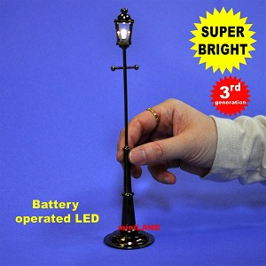 "8"" single lantern street lamp LED Super bright with On/off switch"